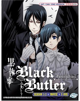 * ENG DUB * BLACK BUTLER - KUROSHITSUJI SEA 1-3 + 9 OVA + MOVIE