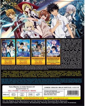 TOARU MAJUTSU NO INDEX SEA 1-3  VOL.1 – 74 END+ SP + MOVIE
