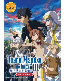 * ENG DUB * TOARU MAJUTSU NO INDEX III VOL. 1 - 26 END