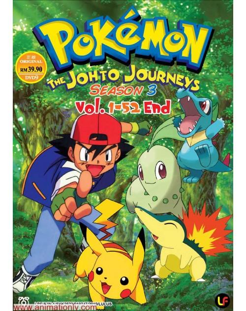 pokemon season 3 the johto journey tv 1 52 end dvd